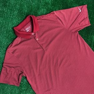 Red pinstripe Nike golf polo medium